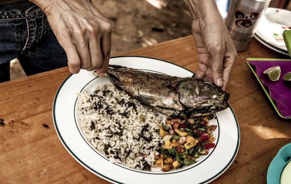 """La mesa se llena con lo que ellos mismos producen. """"El Algodonal"""", Caracas, Agosto 2016"""