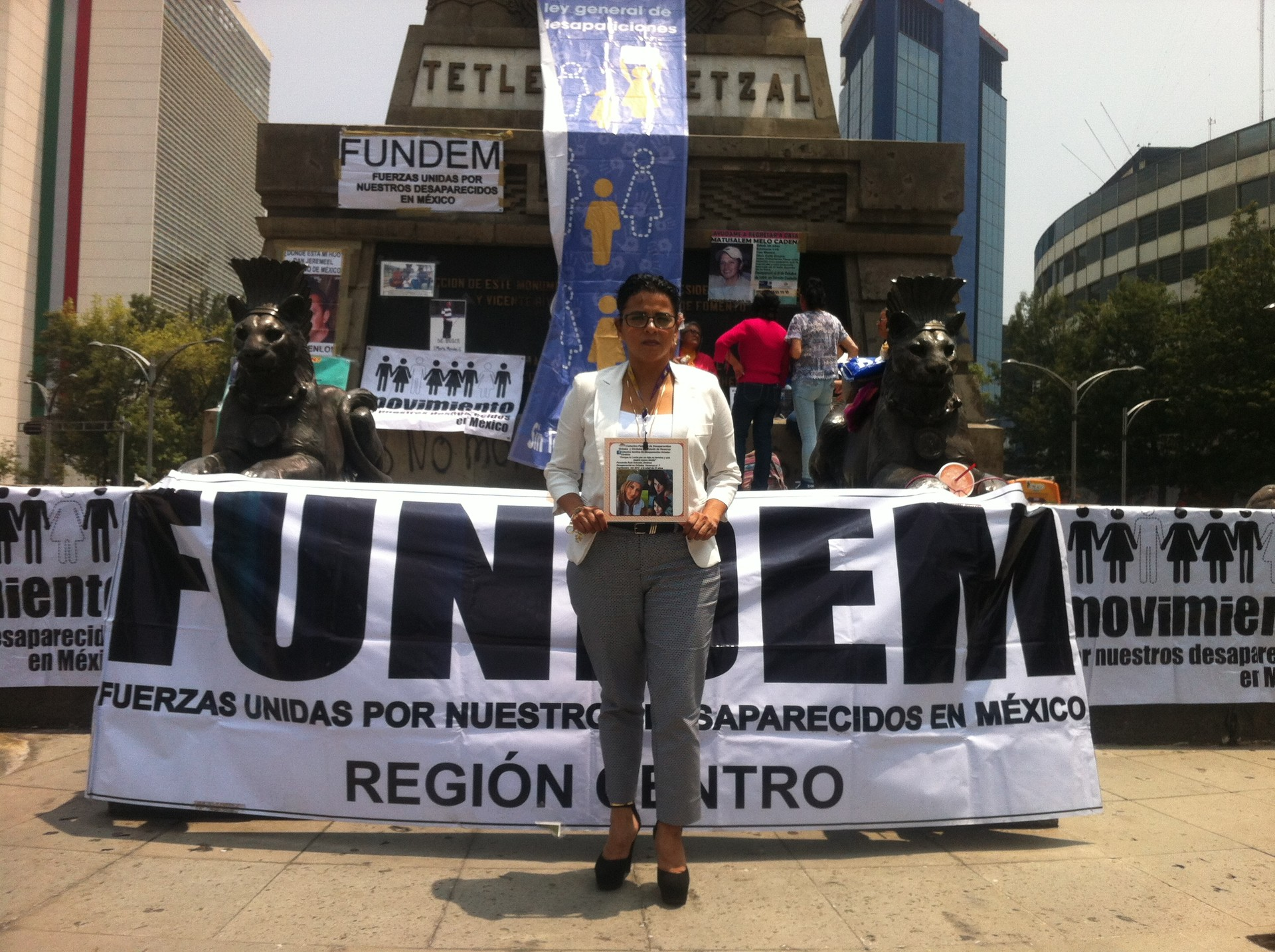 Areceli Salcedo busca desde hace cuatro años a su hija.