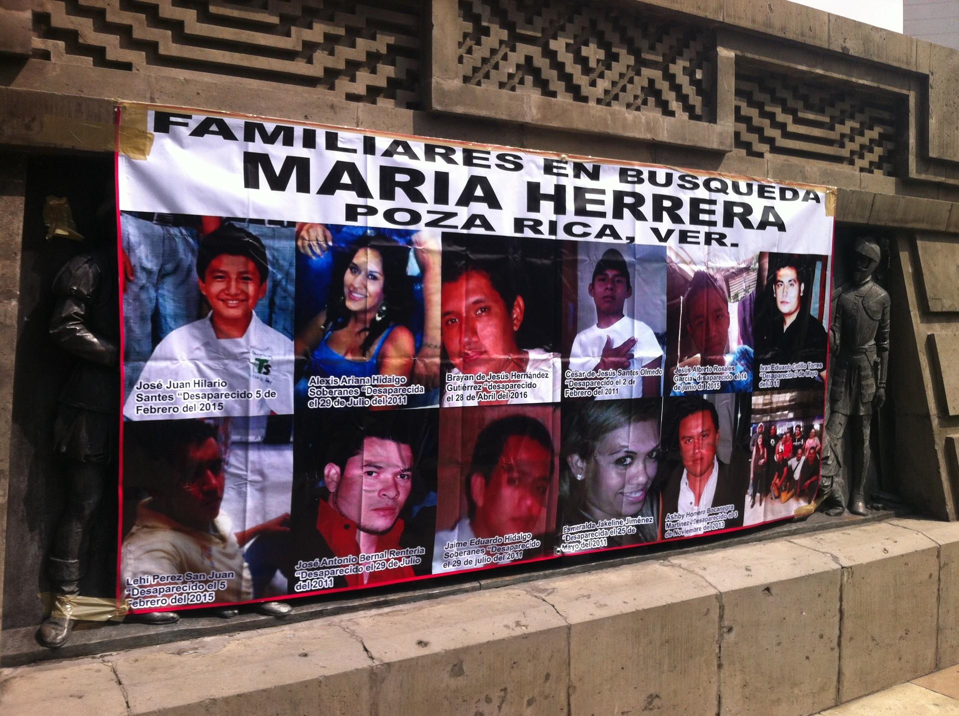 Imágenes de personas desaparecidas en Veracruz