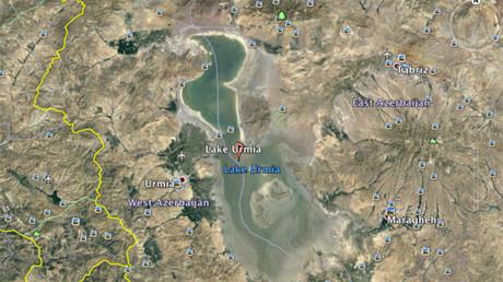 El lago Urmia en abril de 2016
