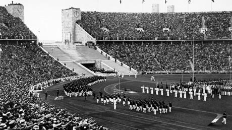 Apertura de la Olimpíada de Berlín en 1936