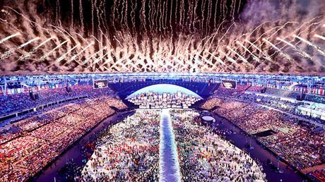 La ceremonia de la inauguración de los Juegos Olímpicos 2016 en Río de Janeiro, Brasil, 5 de agosto de 2016