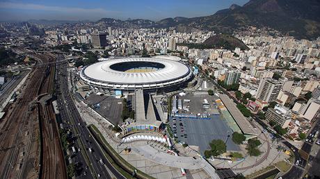 Vista aérea del estadio Maracaná en Río de Janeiro, Brasil