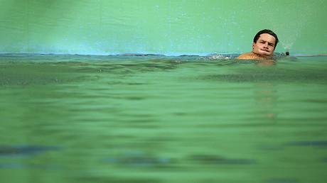 El saltador alemán Patrick Hausding en el Parque Acuático de María Lenk