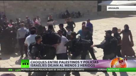 Enfrentamientos entre fieles palestinos y la Policía israelí dejan al menos dos heridos