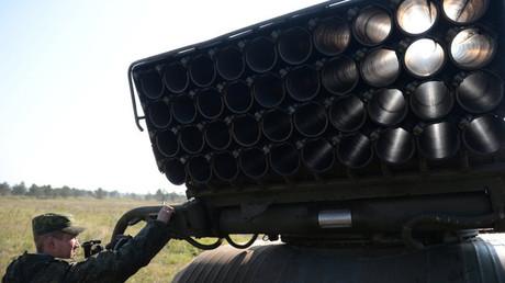 Un lanzacohetes múltiple ruso