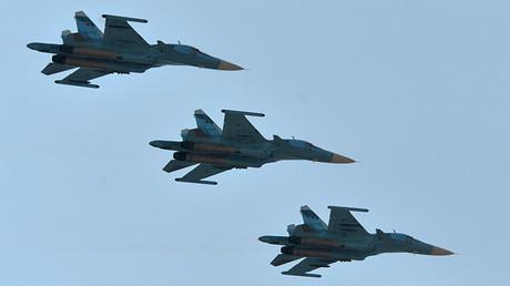 Bombarderos rusos Su-34
