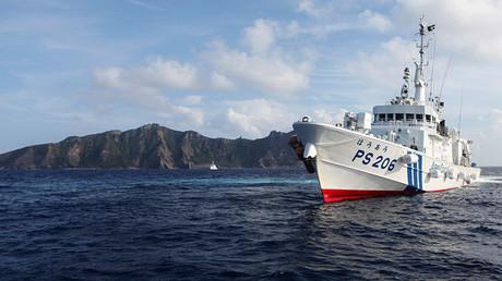 Un buque japonés vigila la zona del mar aledala a las islas Senkaku