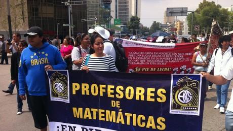 Protesta de docentes en la Ciudad de México (2016)