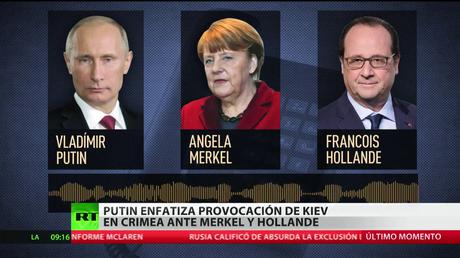 Putin recuerda a Merkel y Hollande la provocación de Kiev en Crimea