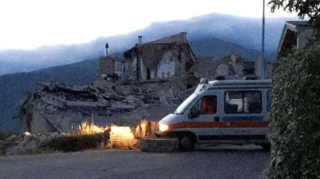 Una casa destruida en la localidad de Amatrice, en el centro de Italia. 24 de agosto de 2016.