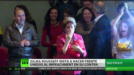 Dilma Rousseff promueve un frente unido para resistir el impeachment