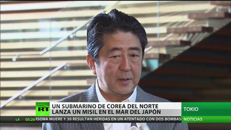 Un submarino de Corea del Norte lanza un misil en el mar del Japón