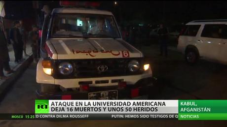 Afganistán: Un ataque en la Universidad Americana deja 16 muertos y unos 50 heridos