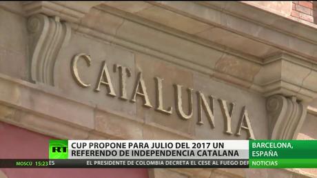España: La CUP propone un referendo de independencia catalán para julio de 2017