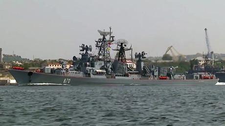 Un modernizado barco de patrullaje de la serie Smetlivy como parte de la Flota del mar Negro.