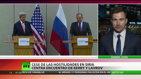 El cese de las hostilidades en Siria centra el encuentro entre Lavrov y Kerry