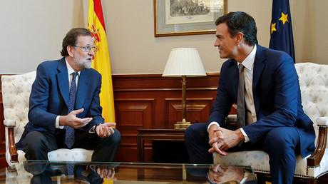 Encuentro celebrado este lunes entre Mariano Rajoy y Pedro Sánchez