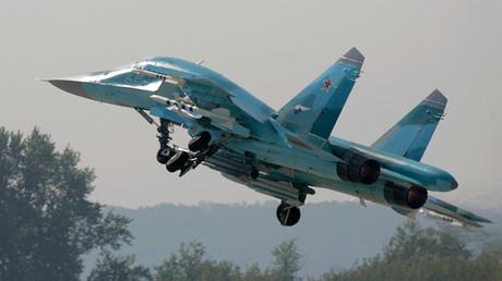 Un bombardero ruso Su-34