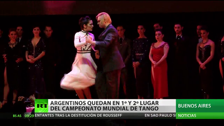 Argentinos ganan en dos categorías del cameonato mundial de tango