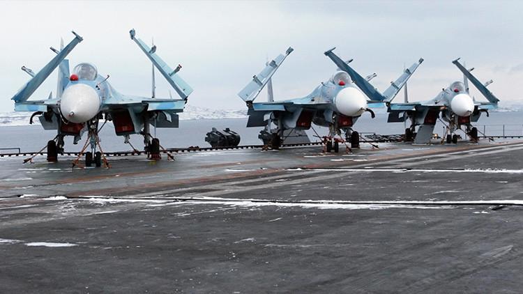 Los Su-33 rusos atacarán a los terroristas en Siria con la máxima precisión