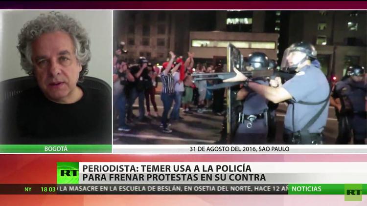Protestas por la destitución de Rousseff, más agresivas que contra su mandato