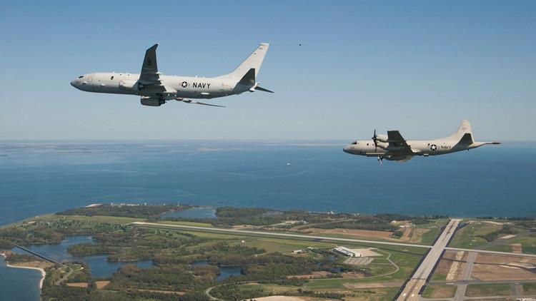 Dos aviones de patrulla de EE.UU. se acercaron a las bases rusas en Siria