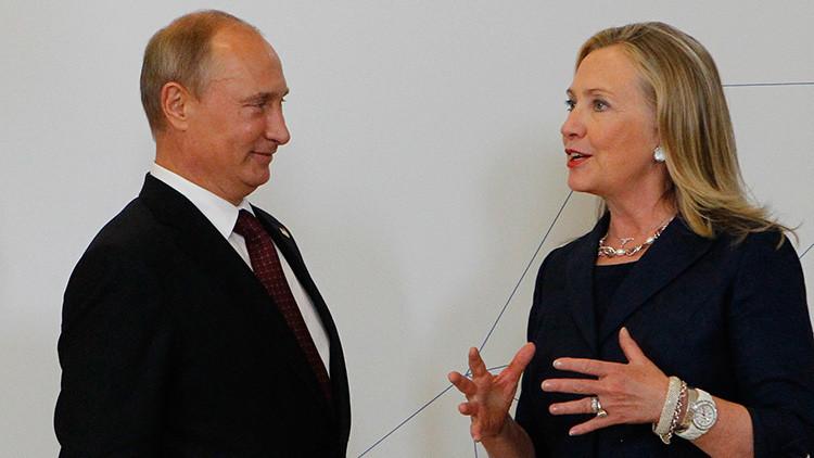 Hillary Clinton prefiere cenar con Putin que en compañía de Trump