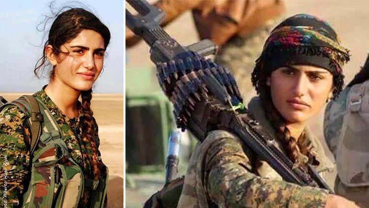 Muere la 'Angelina Jolie' kurda combatiendo al Estado Islámico