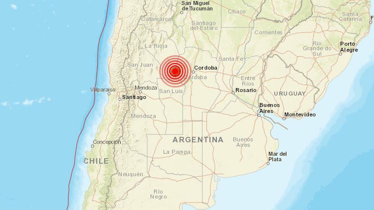 Un sismo de 5,6 sacude la ciudad argentina de Córdoba