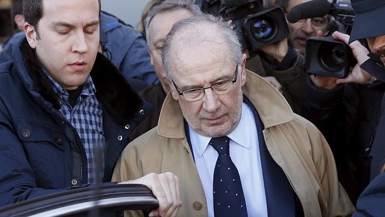 Rodrigo Rato, saliendo de los tribunales en Febrero de 2016