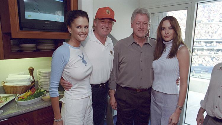Revelan fotos inéditas que muestran a Donald Trump y Bill Clinton como grandes amigos
