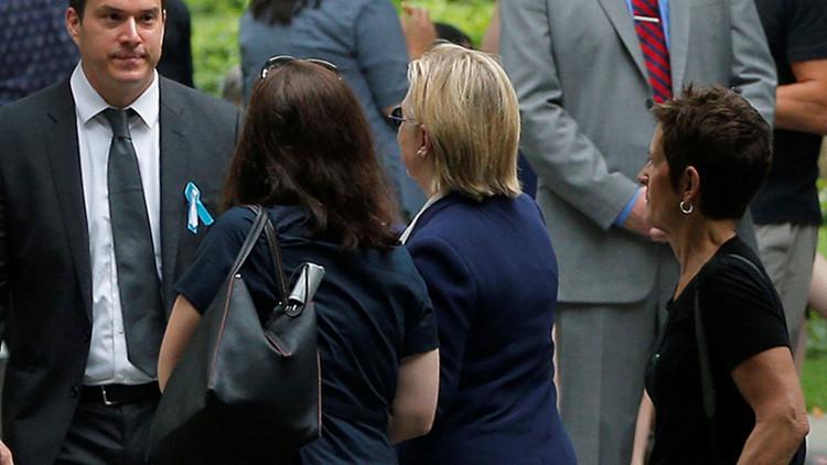 Publican el video del desmayo de Hillary Clinton tras abandonar la ceremonia del 11-S