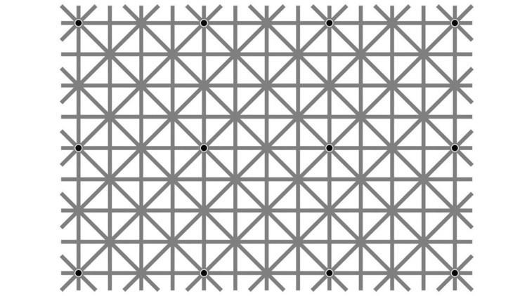 ¿Es capaz de ver los 12 puntos negros a la vez? Una ilusión óptica enloquece a los internautas