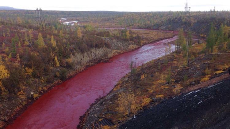 Resuelto el enigma del río ruso teñido de rojo sangre