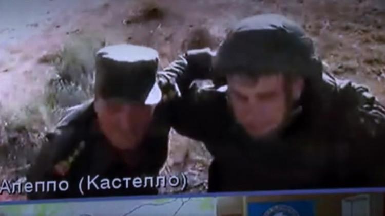 VIDEO: Oficiales ruso y sirio quedan bajo el fuego cruzado durante una videoconferencia con Moscú