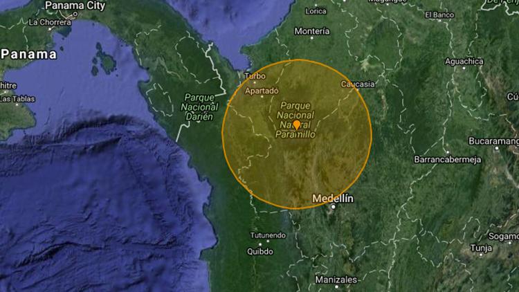 Un sismo de magnitud 5,9 sacude el norte de Colombia