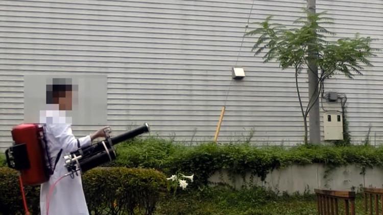Un inventor japonés desarrolla un cañón de agua mortal (VIDEO)