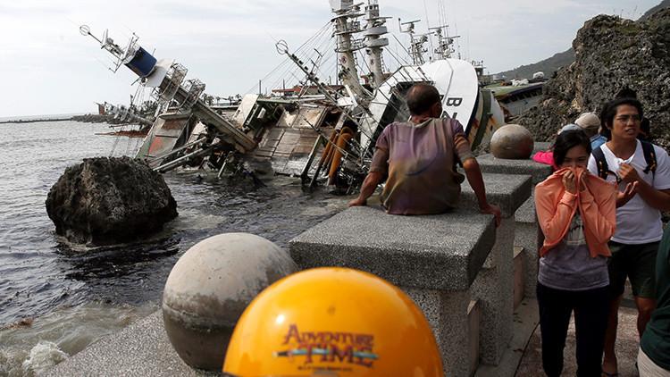 Fotos, video: El tifón más potente del mundo en lo que va de año azota China