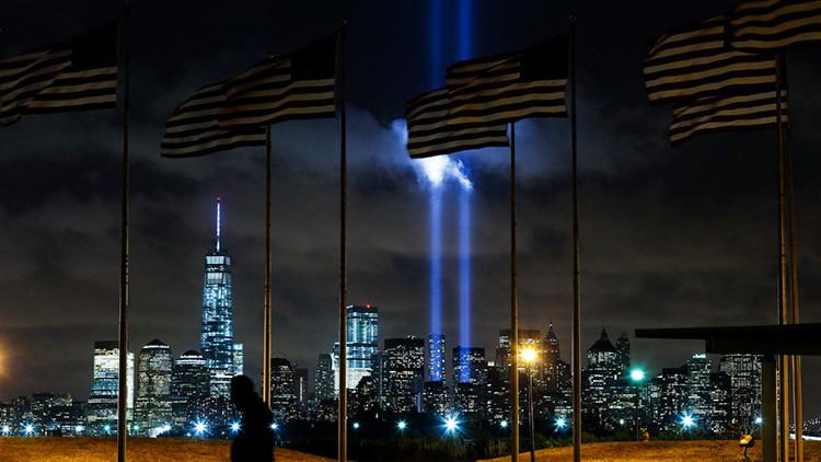 Aparece un 'ángel' sobre el lugar donde se levantaban las Torres Gemelas de Nueva York