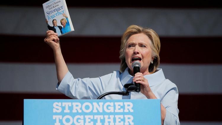 Candidata demócrata a la presidencia de EE.UU., Hillary Clinton