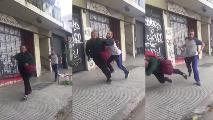Indignación en Argentina por un jugador de rugby que se filmó golpeando un peatón (VIDEO)