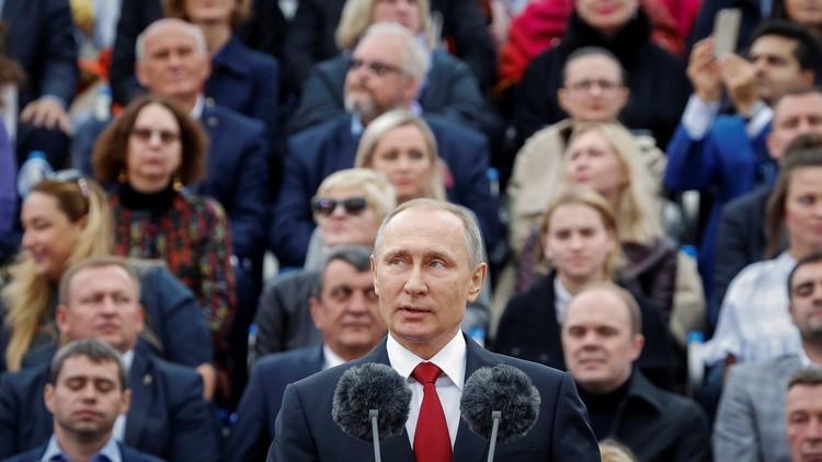 """Putin sobre EE.UU.: """"Intentan mostrar a Rusia como el imperio del mal"""""""