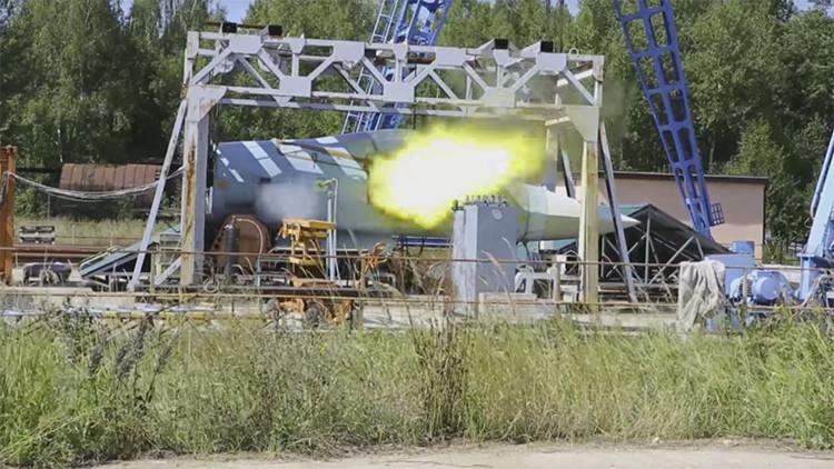 Veloz y preciso: prueban el cañón automático del nuevo cazabombardero ruso T-50 (VIDEO)