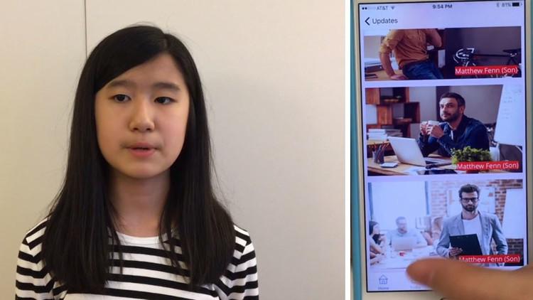 Una niña de 12 años crea una aplicación para que su abuela con Alzheimer no se olvide de ella