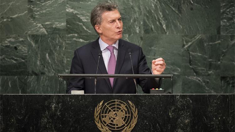 Mauricio Macri enumera ante la ONU las tres tareas prioritarias de Argentina