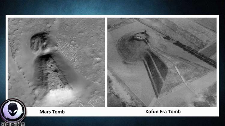 """Un usuario de YouTube halla en Marte un ojo de cerradura """"idéntico"""" a una antigua  tumba japonesa"""