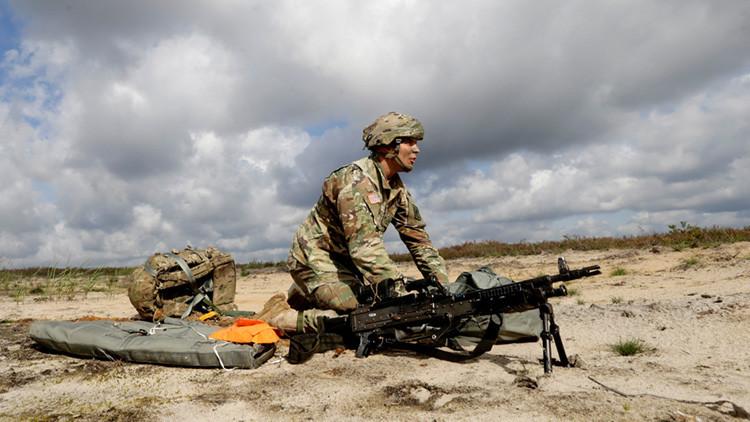 Un soldado de EE.UU. en la ciudad letona de Adazi, el 12 de septiembre de 2016.