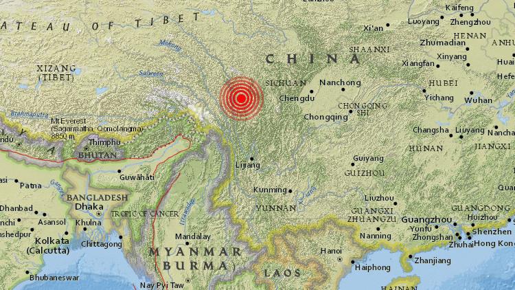 Se registra en China un sismo de magnitud 5,3