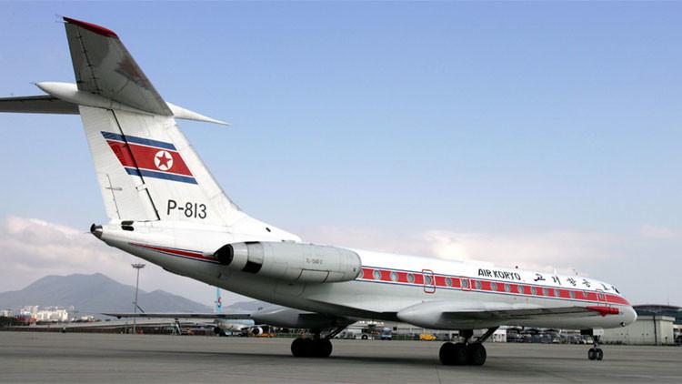 Un avión de la única compañía aérea de Corea del Norte, Air Koryo.